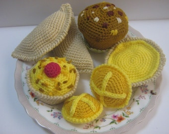 Food Crochet Pattern PDF Instant Download Dessert Cakes Sweet Food Pattern High Tea Pastries