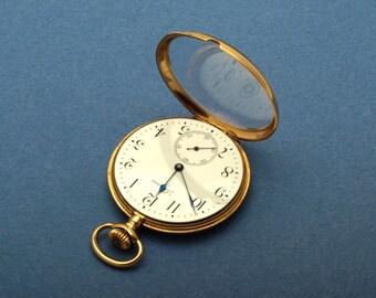 Longines 18ct gold pocket watch