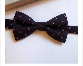 Bow tie black Fox head