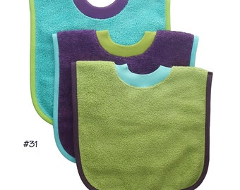 Pullover Baby to Toddler Bibs -- Set of Three -- Set 31