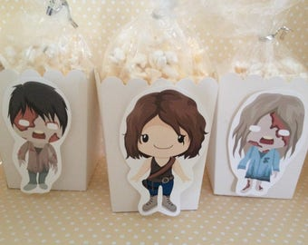 The Walking Dead Party Popcorn or Favor Boxes - Set of 10