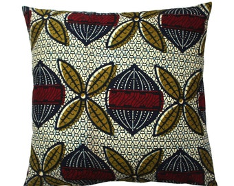 African Print Cushion, Ankara Throw Pillow, African Cushions, Tribal Print Cushion, Abstract print cushion, House warming gift, coussin
