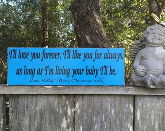 I'll love you forever,16x5.5,Rustic Wood Signs, Farmhouse Signs, Wall Décor