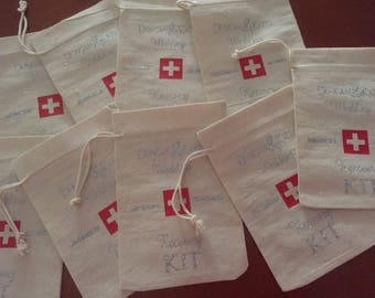 Hangover Kit Bags Set of 5-Recovery Kit-Party Favours-Bridal Shower-Hangover Survival Kit-DIY Bridesmaid Gift-Hens Party-wedding gift