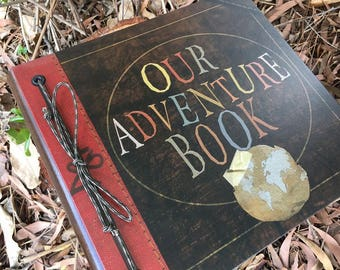 Our Adventure Book, Adventure Book, Up Adventure Book, Wedding Book, 1t Year Anniversary gift, Personalized Scrapbook, Leather Album