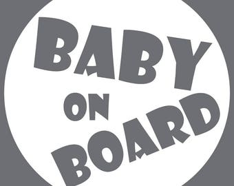 Baby On Board Decal - Circle Bubble
