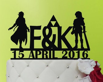Cake Topper - Link and Zelda Wedding Cake Topper - Link and Zelda - Acrylic Cake Topper M1-01-005