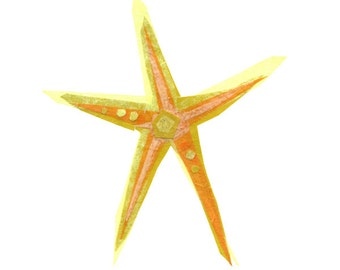 Cecilia Starfish - Starfish Art Print, Starfish Decor, Nautical Art Print, Beach Art