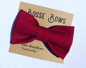 Maroon Bow tie, Newborn bow tie, Infant bow tie, toddler bow tie, Kids bow tie, Clip on bow tie, baby bow ties, bow ties, Mens bow tie
