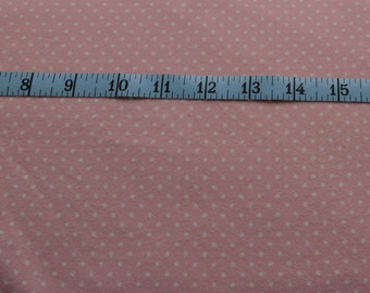 Pink Polka Dot Flannel Fabric -Cotton Yardage -Cotton Flannel -Sewing Material -Quilting, Pillowcases, Pajamas -Fat Quarter, By The Yard