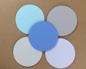 """50 - 3"""" Circle Die Cuts  Rainy Day Colors"""