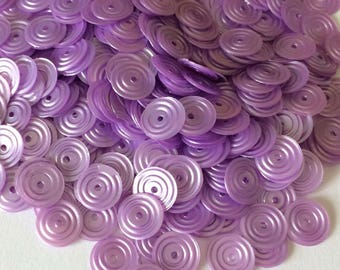 Clear 8 mm Orchid color satin circular glitter in bulk