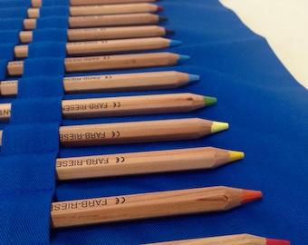 Handmade Pencil Roll with Lyra Pencils