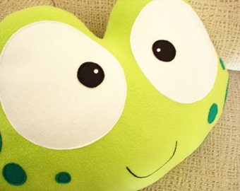 PHINE THE FROG-Decorative plush pillow -
