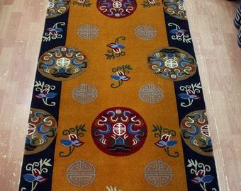 Wool Tibetan Rug Carpet 3x6 ft Mandala Tibet Nepal buddhism buddha auspicious