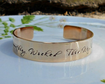 Literary Quote Bracelet, William Shakespeare, Something Wicked this Way Comes, Literary Gifts, Literary Jewellery, Book Lover Gift