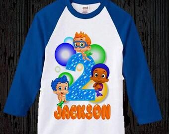 Bubble Guppies Birthday Shirt - Bubble Guppies Boy's Shirt - Raglan Option Available
