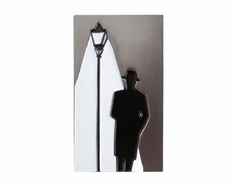 Film noir gumshoe enamel lapel pin