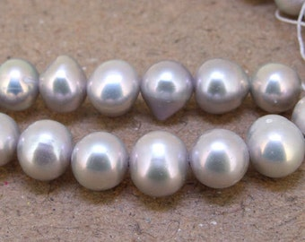 """One Full Strand--- Luster Grey Pearl Pure Freshwater Pearl----7mm- 8mm----about  52Pieces----15"""""""
