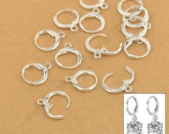 a pair of medium Silver earrings