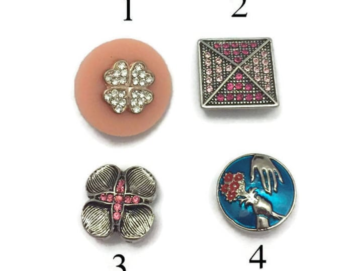 Snap Charms, Snap Buttons, Standard 18-20mm Snap Buttons, Fit all Popular Snap Jewelry, Interchangeable Snap Charms, Interchangeable Jewelry