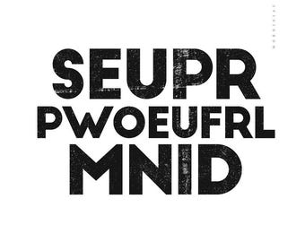 Super Powerful Mind quote by Genu Berlo - Printable art typography Art Print black and white