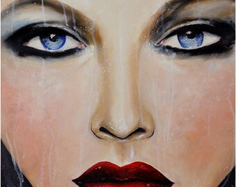Beauteous Refined  - Fashion, Beauty Oil Painting Art Print by Leigh Viner
