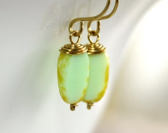 Light Mint Earrings - 'Born to Be a Foreigner'