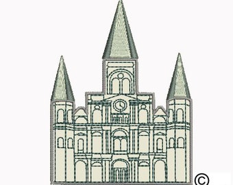 St. Louis Cathedral (Castle) Machine Embroidery Design Download