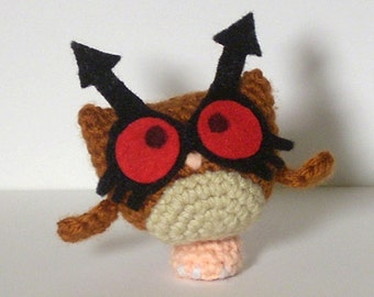 Hoothoot Crochet Plush