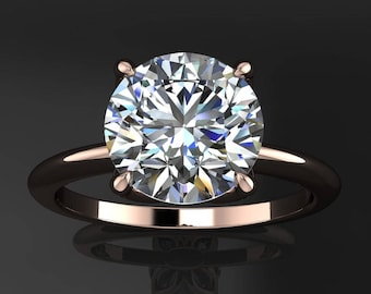natalie ring - 2 carat round NEO moissanite engagement ring, colorless NEO moissanite