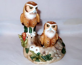 Vintage 1986 FOSS BURROWING OWL Ski Country Mini 50 ml Limited Edition Kentucky Straight Bourbon Whiskey Decanter Bottle Collector Gift