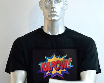 Pop Art T-shirt - Comic Strip Shirt - Kapow! - Pulp Fiction