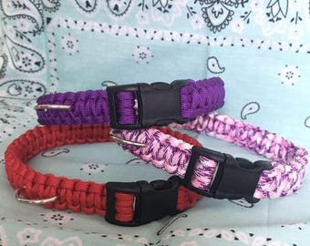 Paracord Collar with Plastic Buckle