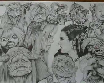A3 size Labyrinth prints hand signed