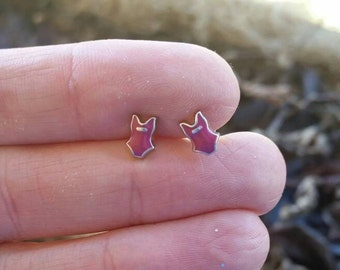 Little Pink Bathing Suit, Swim Suit Charm Earrings - Post Earrings - Beach Vacation Jewelry