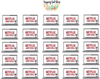 Netflix and Chill Planner Sticker Sheet