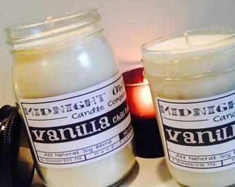 Vanilla Chai Tea Mason Jar Candle Scented Soy Candle, popular candles, fall, autumn, chai tea, vanilla chai,  - Midnight Owl