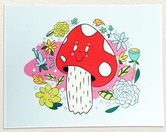 Psychedelic Mushroom Print