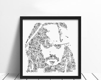 Johnny Depp as Jack Sparrow - The Caribbean pirate - Limited Edition print - movie wall art