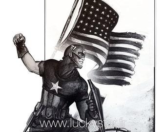 Captain cover / / digital print