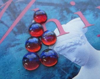 Mexican Opal Dragons Breath Opal Glass Cabs 9mm 6Pcs.