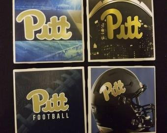 Pitt Panthers coasters set of 4