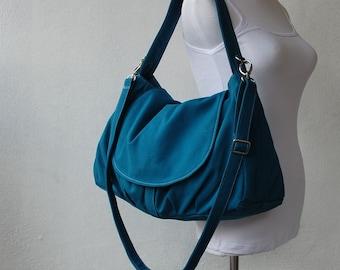 Mother Day SALE 25% - Messenger Bag, Diaper Bag, Fortuner in Teal, School Bag, Shoulder Bag, Women Bag, Gift for Her, Handbag