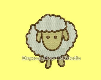 Cute Sheep Embroidery Design - 6 Sizes - INSTANT DOWNLOAD