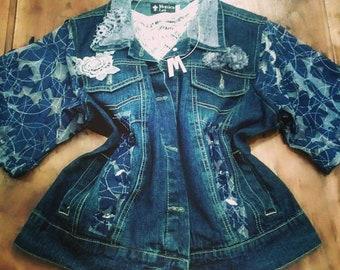 Boho glam jean jacket