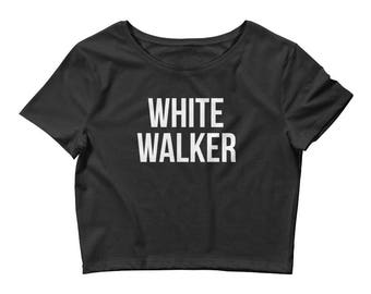 White Walker Crop Top Game of Thrones Inspired  | Game of Thrones Shirt | Game of Thrones Gift | Jon Snow | House Stark