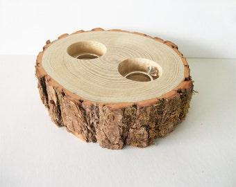 Porteur de l'anneau rustique bol oreiller Alternative Sassafras journal mariage alliances tout en bois naturel