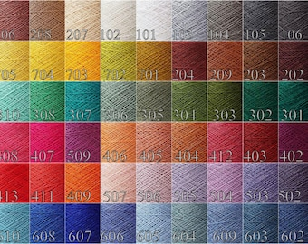 Yarn linen- 300 gram / 10.5oz. choose Any  color - linen yarn color palette