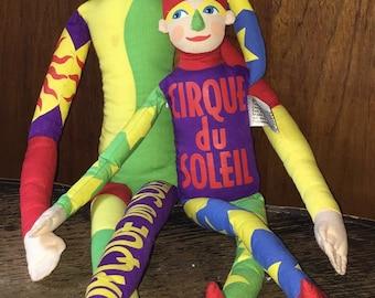 1995 Cirque Du Soleil Acrobat Dolls Bright Colorful Souvenir Dolls